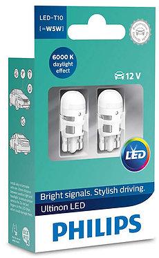 Автолампа вказівна Philips T10 LED white 11961 ULW 12V X2