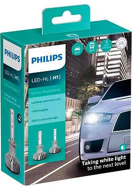 Комплект автоламп Philips LED H1 11258U50CWX2 Ultinon Pro5000 +160% X2