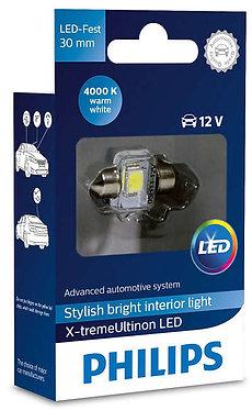 Автолампа вказівна Philips Fest 14x30 LED 12940 4000K 12V 1W X1