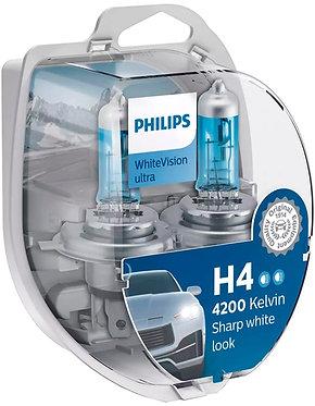 Автолампа Philips Н4/W5W 12342 WVU 12V WhiteVision ultra +60% (4200K) (блістер)
