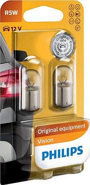 Автолампа вказівна Philips 12821 R5W-02В 12V 5W (BA15s) (блістер)