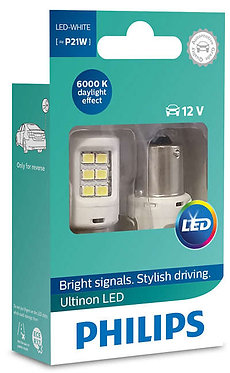 Автолампа вказівна Philips P21 LED white 11498 ULW 12V X2