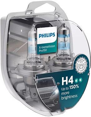 Автолампа Philips H4 12342XVPS2 X-tremeVisionPro150 +150% 12V 60/55W (P43t-38)S2