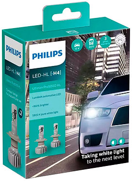 Комплект автоламп Philips LED H4 11342U50CWX2 Ultinon Pro5000 +160% X2