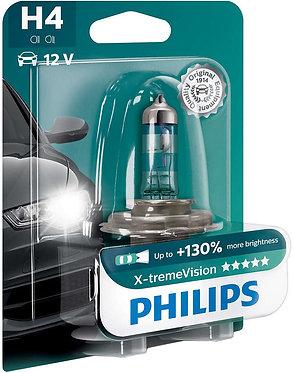 Автолампа Philips XVB1 12342 H4 X-treme Vision SP 12V 60/55W (P43t-38) (блістер)