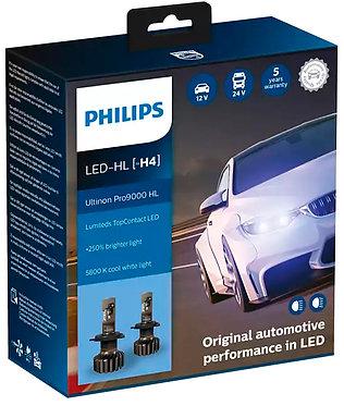 Комплект автоламп Philips LED H4 11342U90CWX2 Ultinon Pro9000 +250% X2