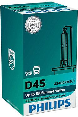 Автолампа Ксенон Philips D4S 42402 XV2 X-TremeVision (+150%) 42V 35W P32d-5 C1