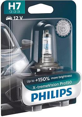 Автолампа Philips H7 12972XVPB1 X-tremeVision Pro150 +150% 12V 55W (PХ26d) B1