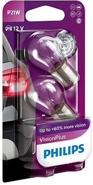 Автолампа вказівна Philips 12498 P21W-02B VP 12V (BA15s) (блістер)