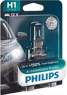 Автолампа Philips H1 12258XVPB1 X-tremeVision Pro150 +150% 12V 55W (P14,5s) B1