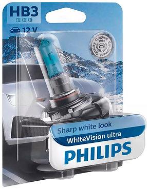 Автолампа Philips НB3 9005WVUB1 12V WhiteVision ultra +60% (3800K) B1 (блістер)