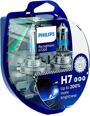 Автолампа Philips H7 12972RGTS2 RacingVision GT200 +200% 12V 55W (PX26d) S2