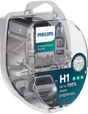 Автолампа Philips H1 12258XVPS2 X-tremeVision Pro150 +150% 12V 55W (P14,5s) S2