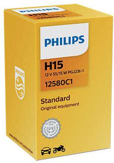 Автолампа Philips H15 12580 12V 55/15W (PGJ23t-1) C1