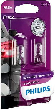 Автолампа вказівна Philips 12040 WB T10-02B VP 12V 6W (W2,1X9,5D) (блістер)