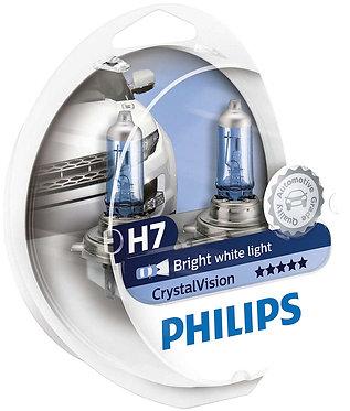Автолампа Philips Н7/W5W 12972 CV 12V Cristal Vision+2x W5W 4300K SM (блістер)