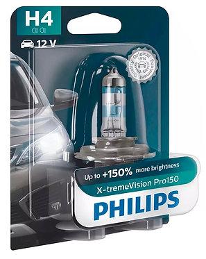 Автолампа Philips H4 12342XVPВ1 X-tremeVisionPro150 +150% 12V 60/55W (P43t-38)В1