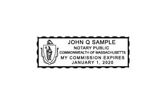 Massachusetts Notary Commission Stamp A Basic Tool For All Notaries Includes The 2018 Mass Guide Book