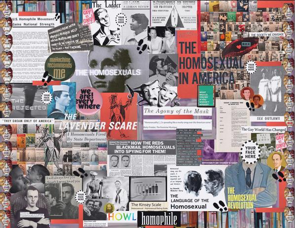 AMST 385 Unit 2 Homophile Collage