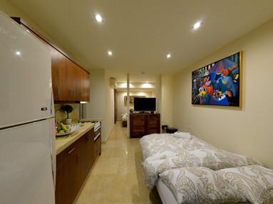 לה וילה אילת Art Suite,החדר מתאים ל-4 אנשים נמצא צמוד לג'קוזי