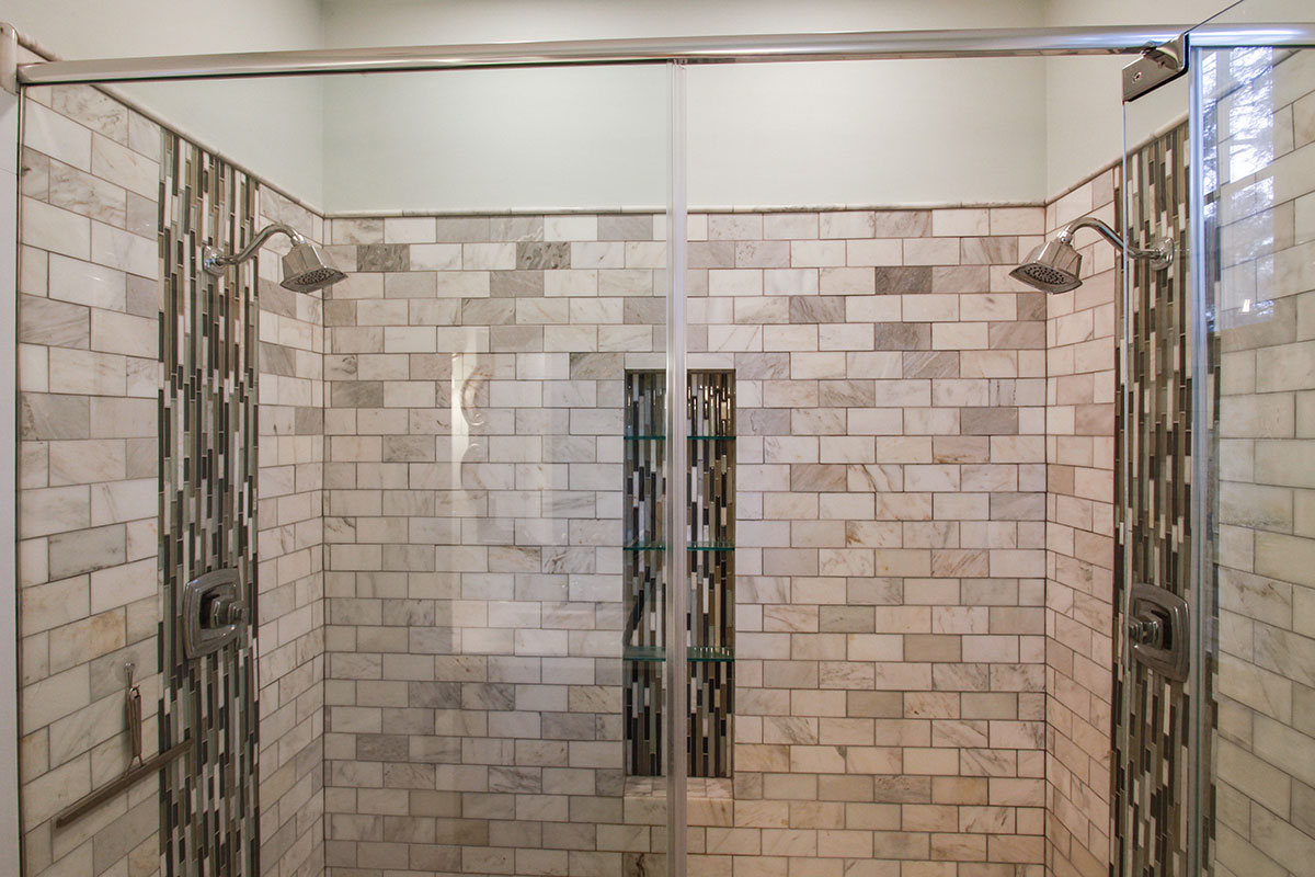 Upstairs Bath with Double Shower