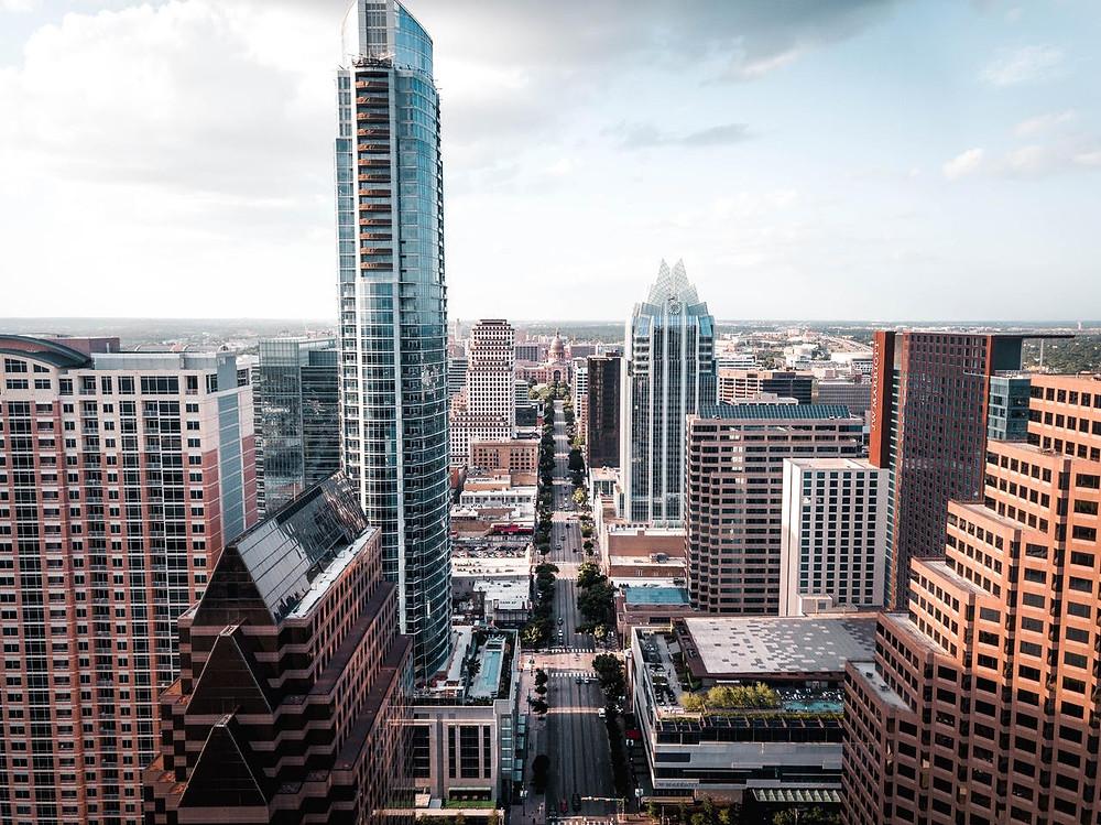 Photo of downtown Austin, Texas.