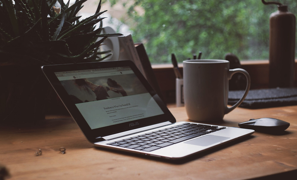 Image Of A Laptop On A Desk