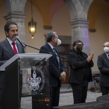 INAUGURA EL RECTOR ALFONSO ESPARZA EL MUSEO CAROLINO EN EL CENTRO DE LA CULTURA Y LOS SABERES.