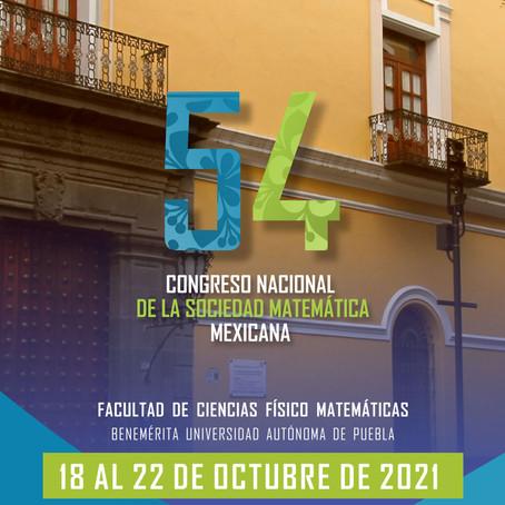 BUAP, SEDE DEL 54 CONGRESO NACIONAL DE LA SOCIEDAD MATEMÁTICA MEXICANA.