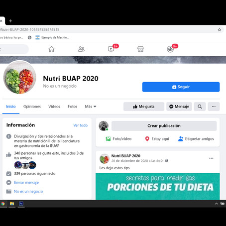 NUTRI BUAP, UN ESPACIO DE INFORMACIÓN NUTRICIONAL PARA LA SALUD DE LA COMUNIDAD UNIVERSITARIA