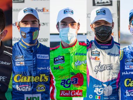 CINCO CONTRA EL DESTINO EN LA FECHA POBLANA DE LA NASCAR PEAK MÉXICO SERIES.