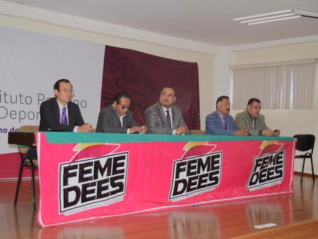 PRESENTAN ACTIVIDADES QUE REALIZARÁ EN PUEBLA LA FEDERACIÓN MEXICANA DE DEPORTES ESCOLARES.