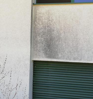 Trockeneisreinigung Fassade vorher