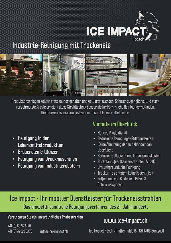 Industrie Reinigung mit Trockeneis