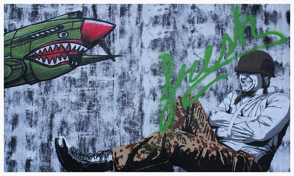 Street Art Köln Ehrenfeld Heliosstraße Decycle Soldat
