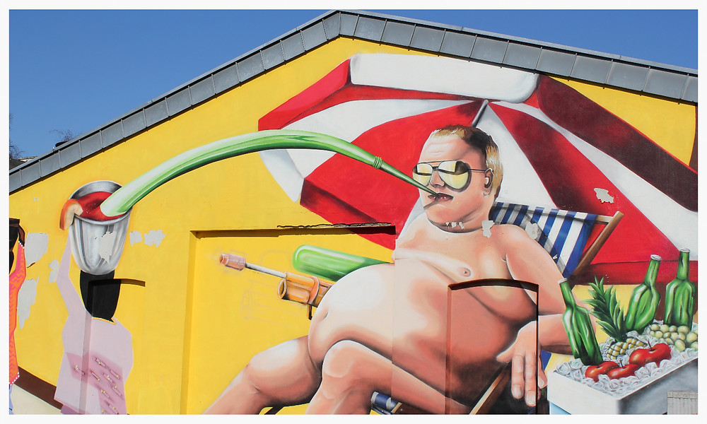 Street Art Köln Ehrenfeld Grüner Weg Barinton Kein Spaß ohne Wasser