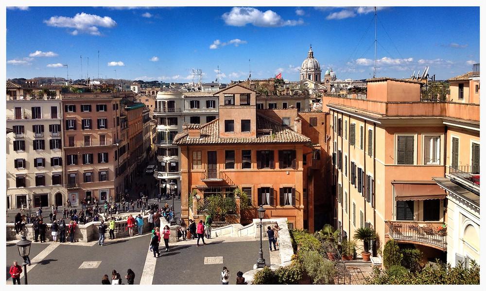 Spanische Treppe am Spanischen Platz in Rom