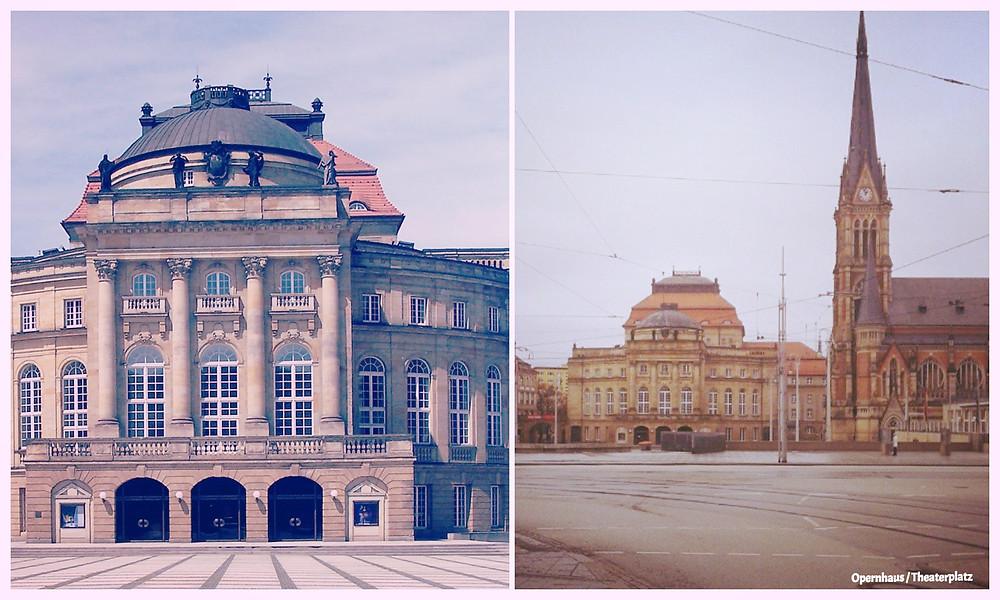 Chemnitz, Opernhaus, Theaterplatz, Blog