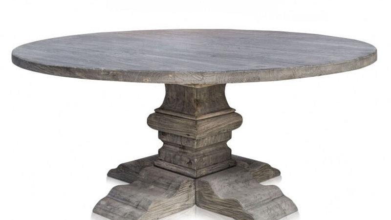 Holztisch mit Säule 180 cm altes Holz