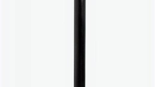 Runder Bartisch Glas-Metall schwarz