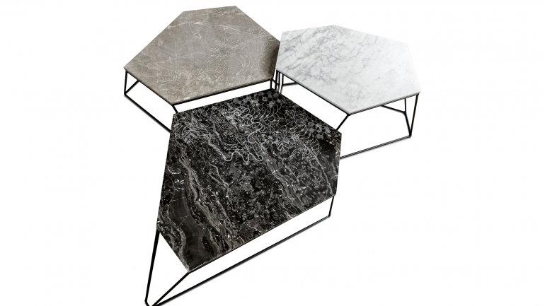 Marmor Couchtisch Set