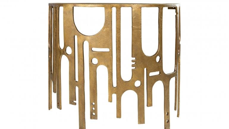 Konsolentisch gold abstraktes Design