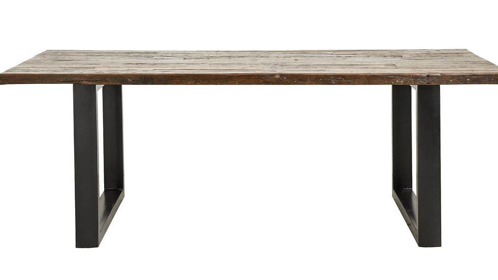 Esstisch vintage Holz-Metall