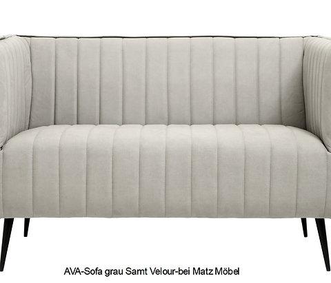Designer Sofa Samt Grau