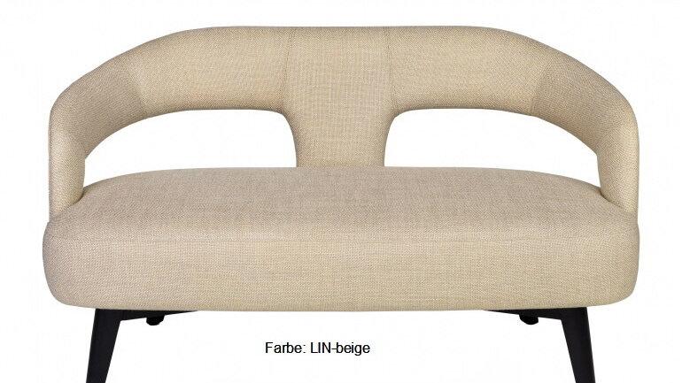Sofa - kleine Couch beige Stoff