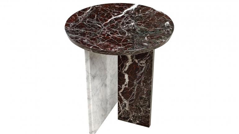 Designer Tisch-Couchtisch, Beistelltisch rund Marmor