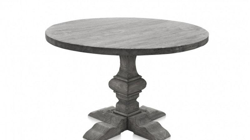 Vintage Massivholz Tisch rund