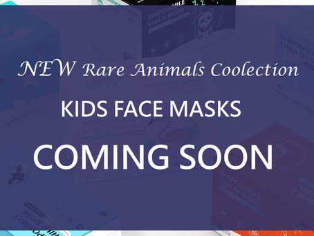 NEW Rare Animals Collection - Kids Face Masks Available Soon