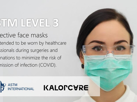 ASTM Level 3 Face Masks from KalorCare