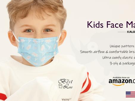 Rhino pattern kids face mask on sale at Amazon.com